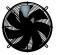 Axiální přívodní ventilátor s ochrannou mřížkou