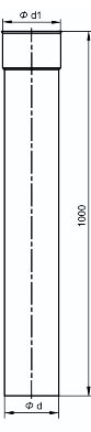 Trubka 1000 mm