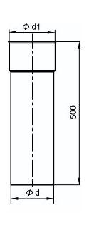 Trubka 500mm výkres