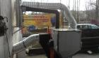 Teplovzdušný kotel EGV-AIR 40 kW, napojen do potrubí